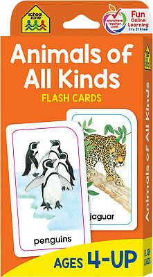 Flash Cards Animals of All Kinds Brighter Child Educational Book Toddler Kids