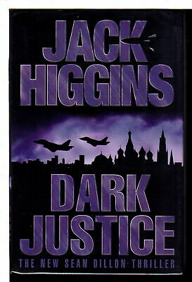 Jack Higgins DARK JUSTICE Mystery, Suspense and Detective Fiction 1st ed Signed