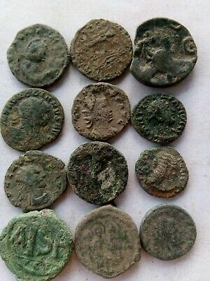 015.Lot of 12 Ancient Roman Suberat Coins,Uncleaned