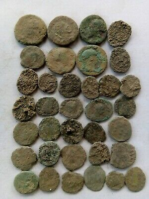 021.Lot of 35 Ancient Roman Bronze Coins,Uncleaned