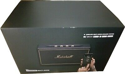 Marshall Stanmore Multi-Room Wi-Fi and Bluetooth Airplay Speaker, Black  NEW