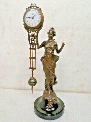 Diana Mystery Swinger Clock--Clock Swings Back & Forth On The Diana Statue