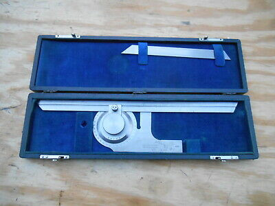"""Brown & Sharpe No. 495 Universal Bevel Protractor , With 6"""" And 12"""" Blades"""