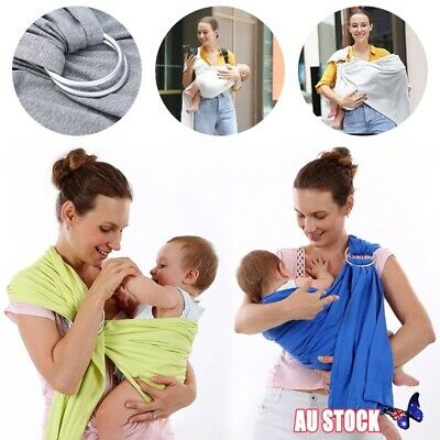 Baby Ring Sling Cotton Adjustable Wrap Carrier Infant Breastfeeding Pouch New