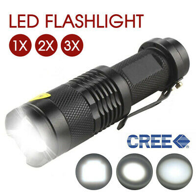 Adjustable Focus Mini CREE Q5 LED Flashlight Torch Zoom Light Lamp 1200LM AU