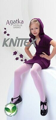 Knittex AGATKA girls'tights  with natural fibre age 2-11 height