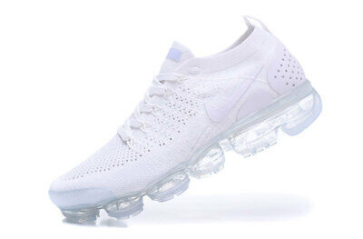 NIKE AIR VaporMax Flyknit 2 Men's Running Trainers Shoes White