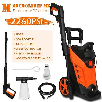 Electric Pressure Washer High Power 2260PSI 156BAR Water Cleaner Jet Car Patio