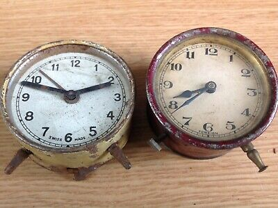 Antique Drum Barrel Style Clocks Movements To Repair Or Spare Parts Ref 94