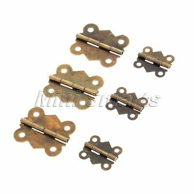 12PCS Antique Butterfly Hinges for Jewelry Chest Gift Box Cabinet Door AU SELLER