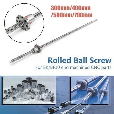 SFU1204 300-700mm Rolled Ball Screw With Ballnut For BK/BF10 End Machined CNC #&