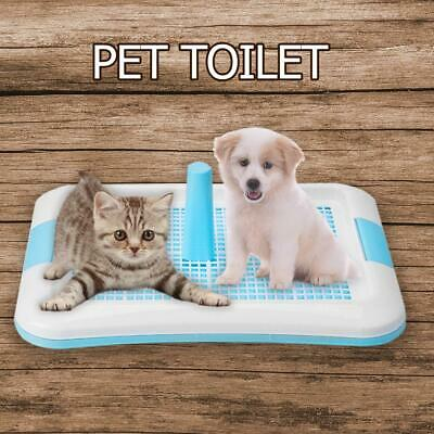Pet Toilet Potty Cat Dogs Puppy Litter Tray Urinal Bowl Pee Trainer w/ Column UK