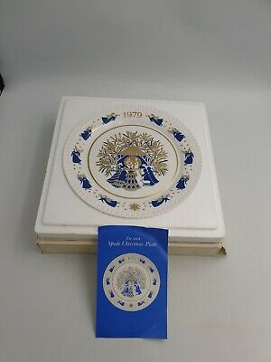"""Spode Christmas Collector 10Th Plate """"Away In A Manger"""" In Carol Series- 1979"""