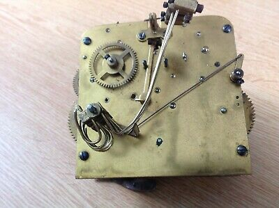 Antique Westminster Chime Clock Movement German Restore Or Spare Parts 11x11cm