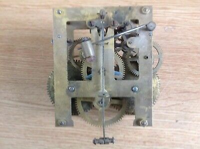 Antique Chiming Wall Clock Movement German Restore Or Spare Parts 11x19cm