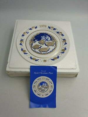 """SPODE CHRISTMAS COLLECTOR 9th LTD EDN PLATE """"WHILE SHEPHERDS WATCHED"""" BXD 1978"""