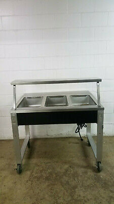 Precision BLH-3 Portable Open 3 Well Hot Food Buffet Food Warmer 208 V Tested