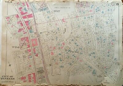 1931 City Of Yonkers Park Hill Westchester County Ny Sutherland Park Atlas Map