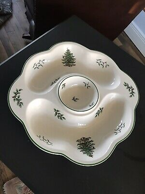 large vintage Spode Christmas tree dish