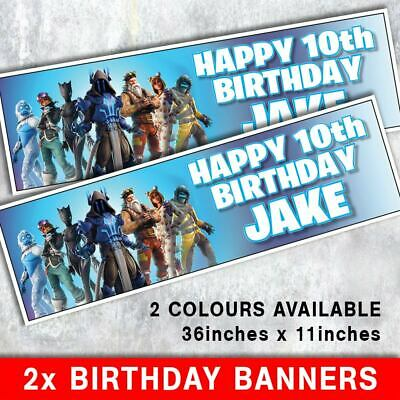 "POKEMON GO BIRTHDAY BANNERS  ANY NAME ANY AGE 2 PERSONALISED 36/"" x 11/"" POKEMON"