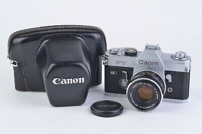 EXC++ CANON FT QL35mm SLR w/50mm F1.8 FL LENS, CASE, NEW SEALS, WORKS GREAT