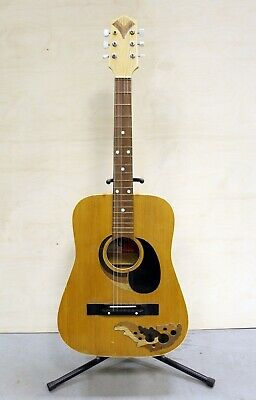 Acoustic Defil Poland USSR Soviet Vintage Rare Retro Old Guitar 1982 Year