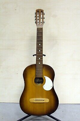 Acoustic 7 string USSR Soviet Vintage Rare Retro Old Guitar 1976 Year