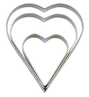 Heart Shaped Cutters Stainless Steel Pack Of Three Heart Cutters By Tala