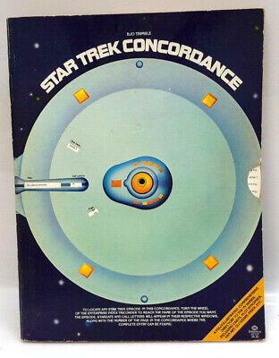 Original 1976 Star Trek Concordance- Bjo Trimble- First Ballantine Printing w Wh