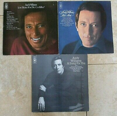 ANDY WILLIAMS LP VINYL ALBUM JOB LOT Love Story A Song For You Theme Godfather
