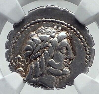 Roman Republic 83BC Ancient Silver Coin MARIUS Supporter vs Sulla NGC i81324