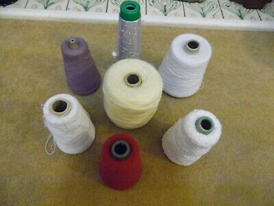 Seven Cones Machine Knitting Yarn Colours As Pictured