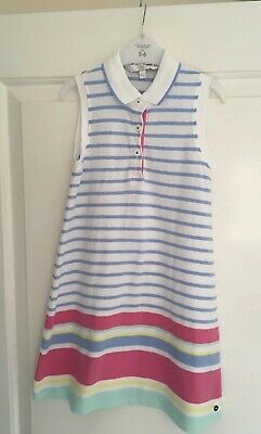 J By Jasper Conran Girls Striped Tennis Dress - 5 Years. Excellent Condition