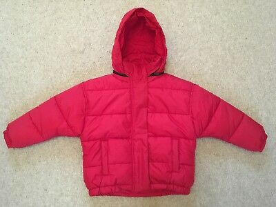 Next Girls Boys Red Padded Coat With Hood - 5 Years. Shower Resistant. BNWT
