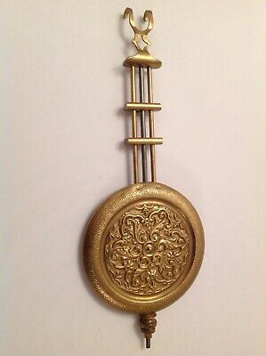 Antique Vienna Style Fancy Pendulum Bob Gridiron 92g 73mm Diameter Rod 190mm