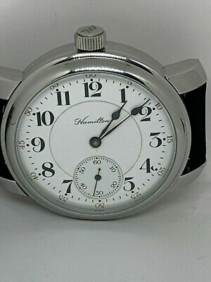 Hamilton  16s 17j Grade 974  jewel pocket watch Marriage conversion