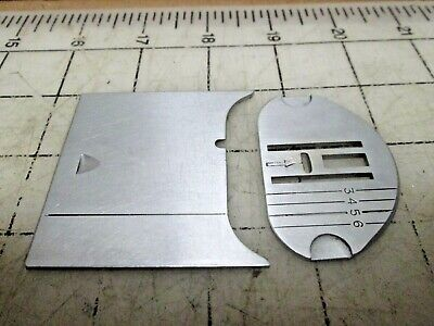 Original Singer Sewing Machine 401A Graduated Needle Plate 172200 & Slide Plate