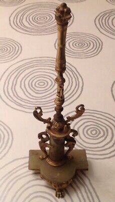 Antique Swingclock Or Watch Stand Marble And Brass 100x80x300mm