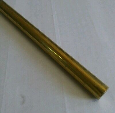"1 pc C360 brass .5"" round rod stock 12"" long lathe machinist new solid bar (1/2)"