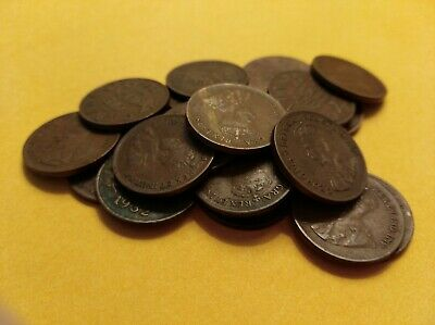 Vintage Old Canada Small Cent Pennies 1c Nickels 5c George V 1920s 1930s VG/F/VF