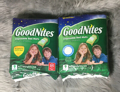 GoodNites Disposable Bed Mats, 18 Count New NIP