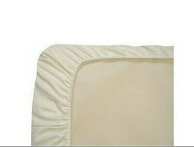 Naturepedic Organic Cotton Bassinet Sheet Fitted 17x33 Ivory/Cream Oval Rectangl