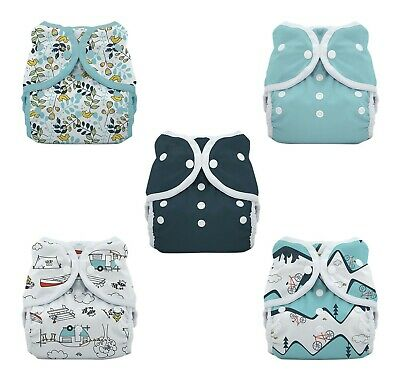 Thirsties Duo Wrap Waterproof Cover 5 Diaper Pack Sz 1 Outdoor Adventure Birdie