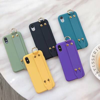 For iPhone 11 Pro Max 8 Plus 7 XS Max XR Wrist Strap Girls Cute Phone Case Cover