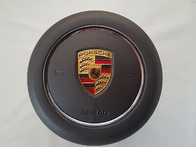 Porsche 911 Turbo 718 Panamera Cayenne Macan Brown Leather Steering Wheel Airbag