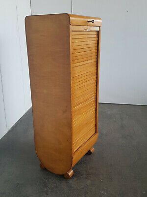 Bauhaus Art Deco Tambour door cabinet Office cabinet um 1920
