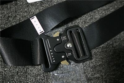 ALYX Belt Rollercoaster Metal Button Canvas Hip Hop Street Wear Asap Rocky New
