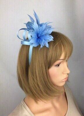 Pale Blue Baby Blue Light Blue Fascinator Wedding Occasion Hatinator Races Hat