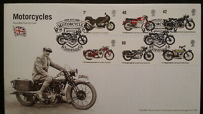 GB FDC 2005 Motorcycles FDC First Day Cover Stevenage Special Handstamp