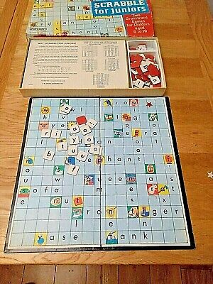 Vintage Scrabble For Juniors Kids Board Game Spears Games Ages 6-10 Complete